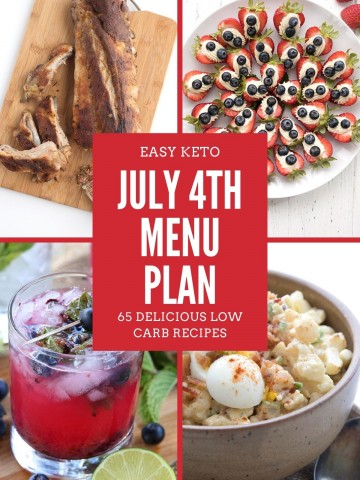 Titled collage for Keto 4th of July Menu Plan