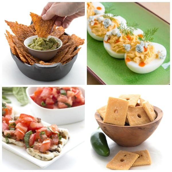 A collage of fourth of July appetizers