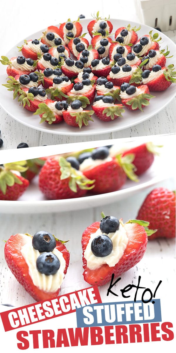 Keto Cheesecake Stuffed Strawberries All Day I Dream About Food