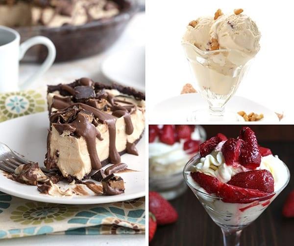 No bake dessert collage