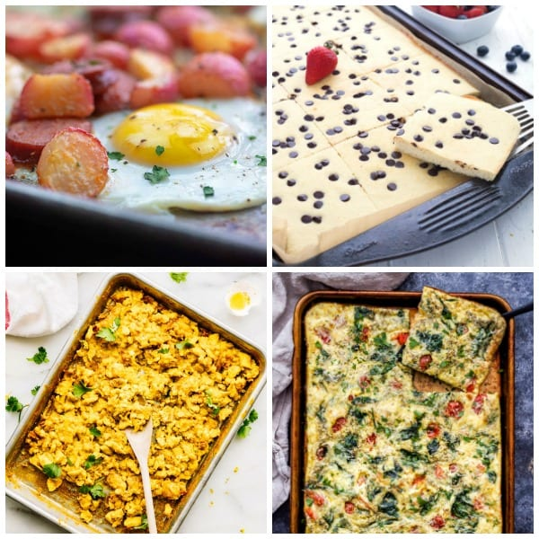 Sheet pan breakfast collage