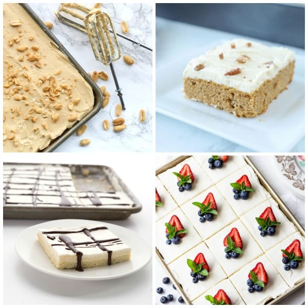 Sheet pan dessert collage