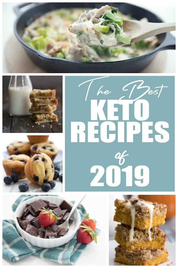 A collage of the best keto recipes of 2019.