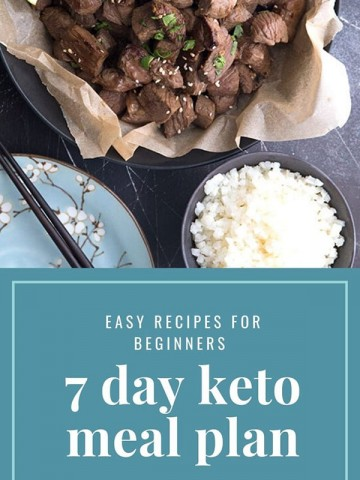 Easy keto meal plan for beginners graphic