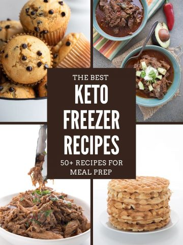 A collage for keto freezable recipes.