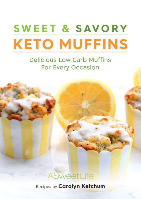 Cover shot of Keto Muffins cookbook.