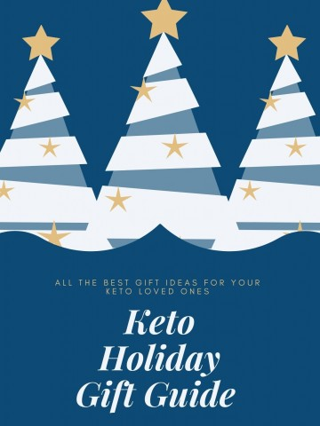 Blue and white graphic for Keto Gift Guide