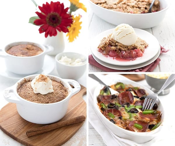 Collage of three keto recipes from 2020
