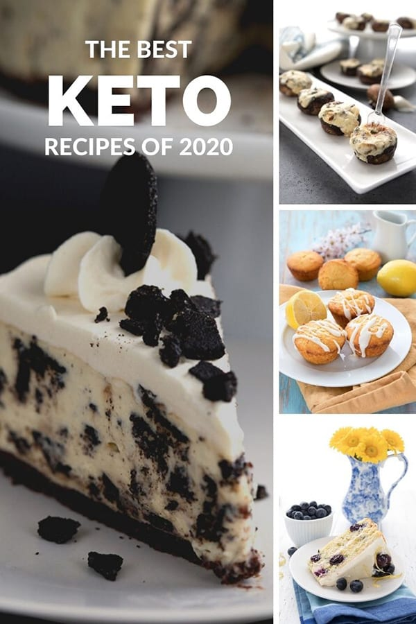 Collage of Keto Recipes from 2020