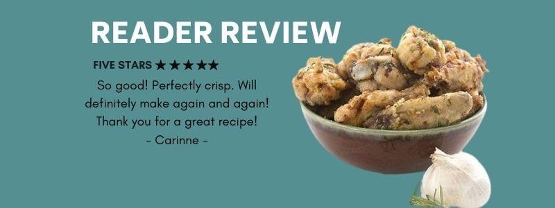 Reader review of Keto Garlic Parmesan Wings