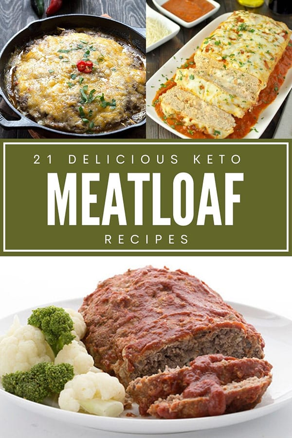 Collage of Keto Meatloaf Recipes