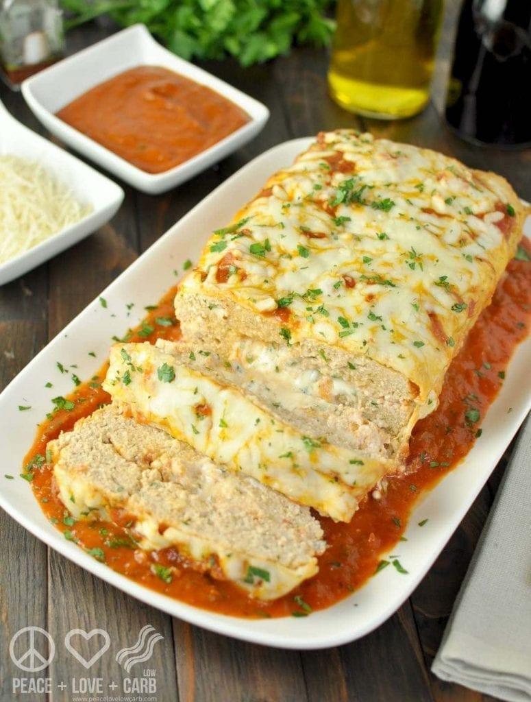 Keto Chicken Parmesan Meatloaf