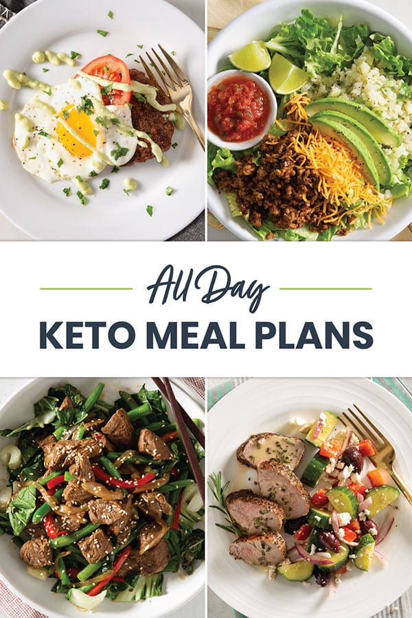 Collage of recipes for Keto Meal Plan