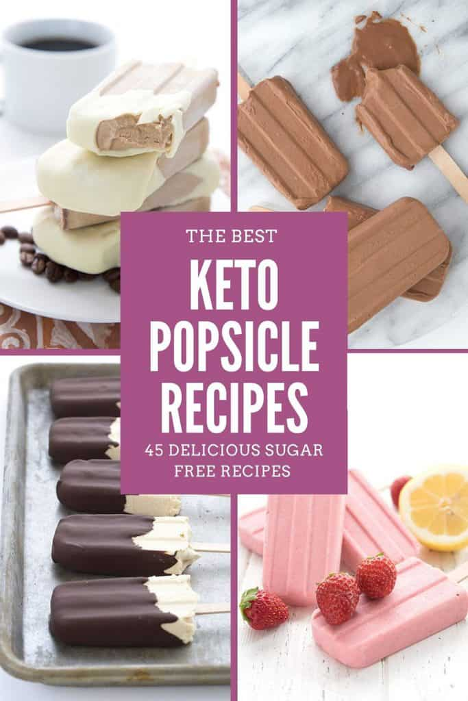 A titled collage for Keto Popsicle Recipes
