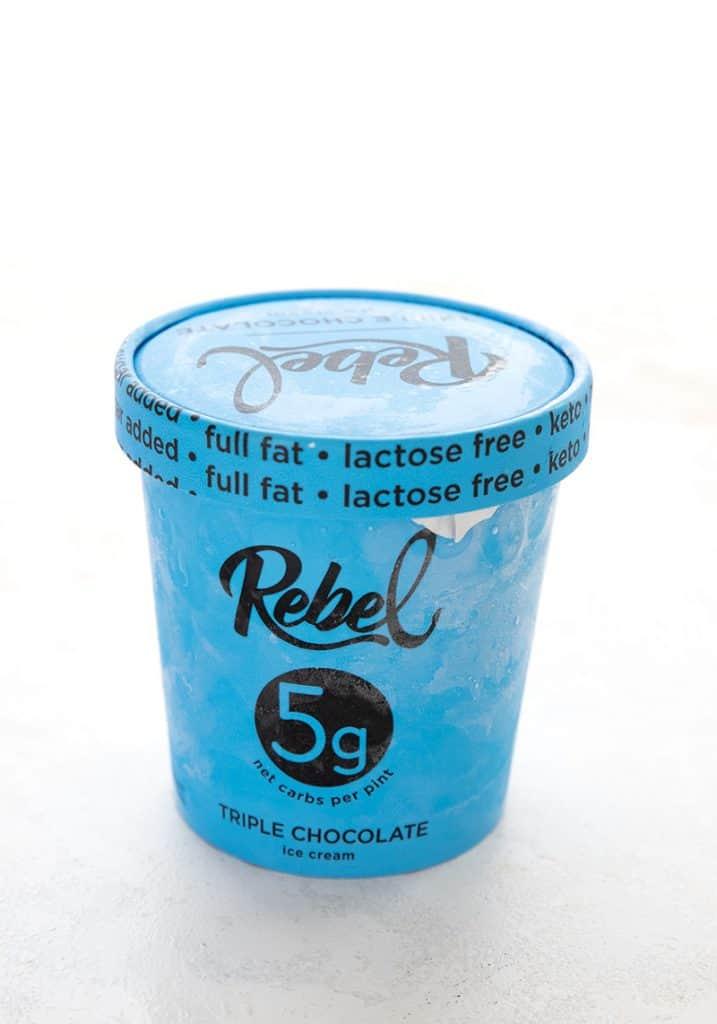 A pint of Rebel Triple Chocolate Ice Cream