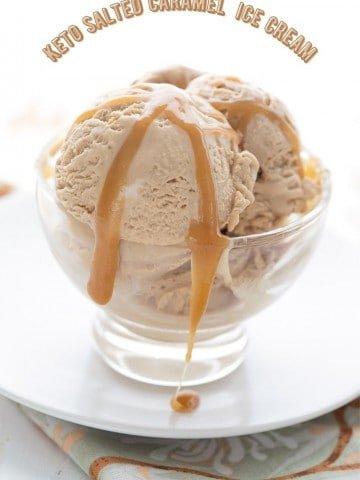 Titled image of a bowl of salted caramel ice cream.