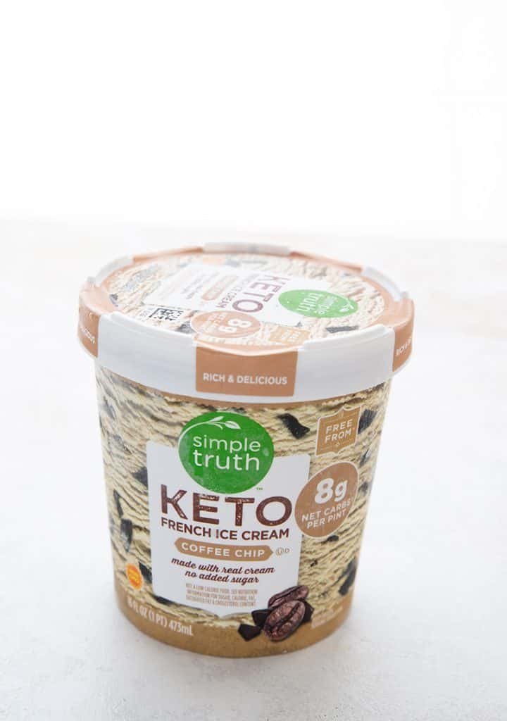A pint of Simple Truth Keto Coffee Chip Ice Cream