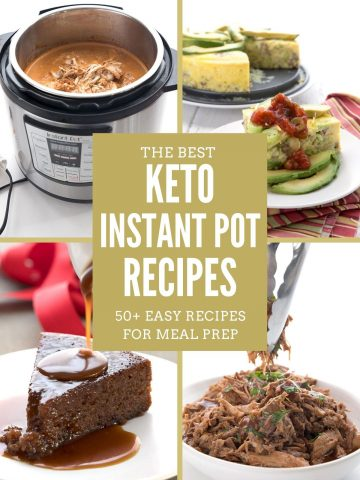 Collage of Keto Instant Pot Recipes with the title in the center.